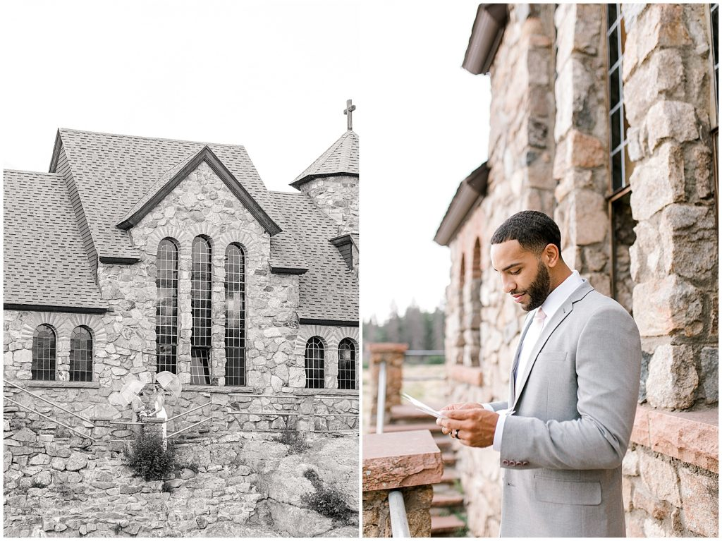 Saint Malo Chapel on the Rock Wedding Picture