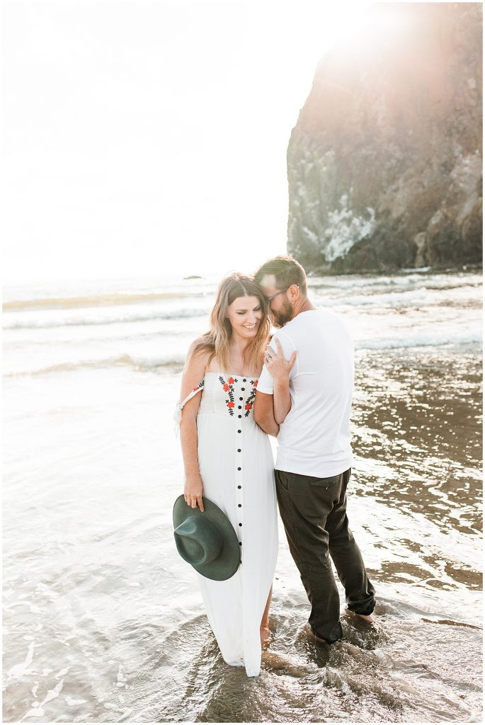 Haystack Rock Engagement Session Cannon Beach Oregon, Sam Areman Photo