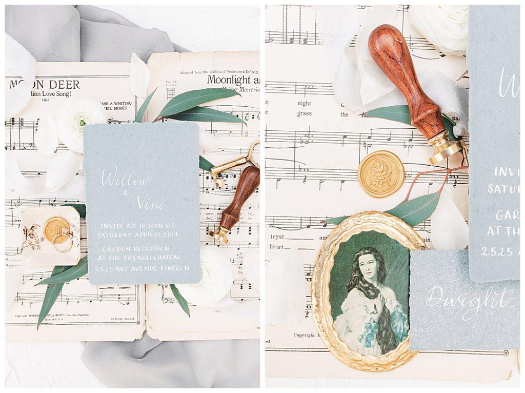 Sam Areman Photo - French Provincial Editorial - Lola Calligraphy - Office Wedding Decor