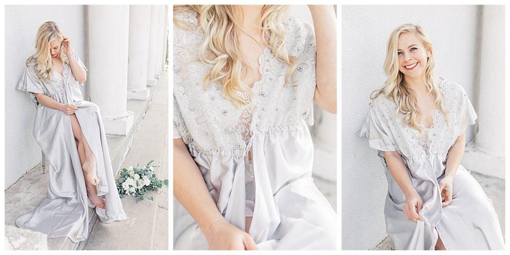Sam Areman Photo - Bridal Robe - Petals to Platinum - Mary had a Little Lace