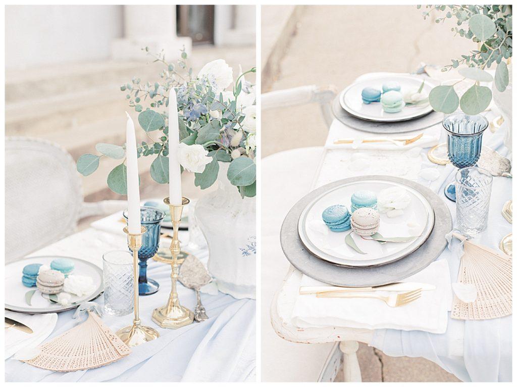 Sam Areman Photo - French Provincial Editorial Wedding - Blush Bridal - Petals to Platinum - Goldenrod Pastries