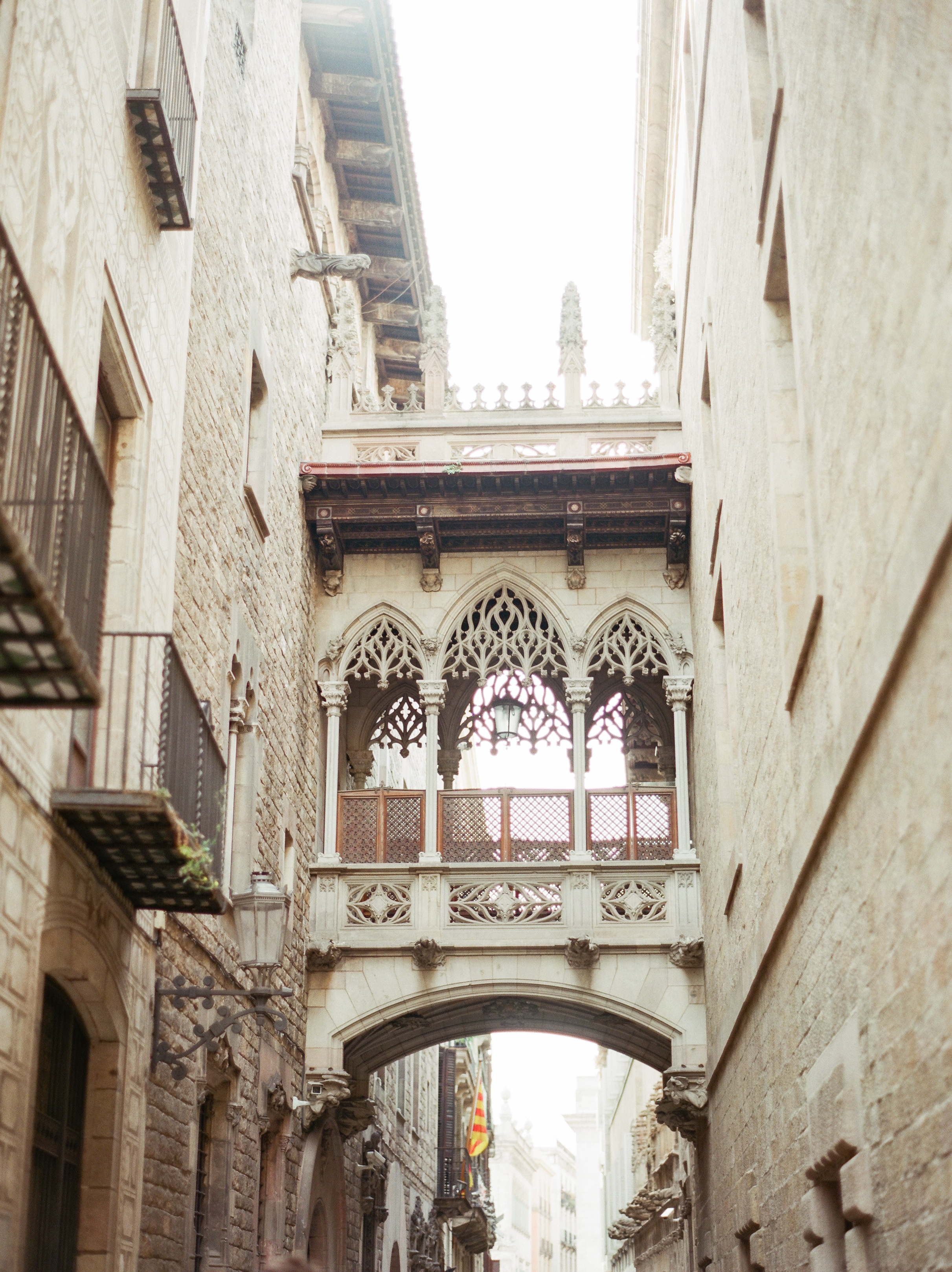 Europe Travel Film Photography - Barcelona Gothic Neighborhood 04 -Contax 645-145